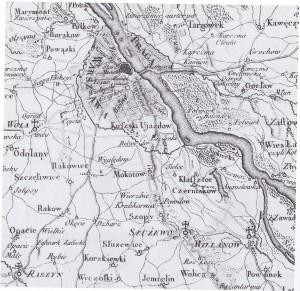 Służew. Mapa Karola de Pertheesa, 1783 r.