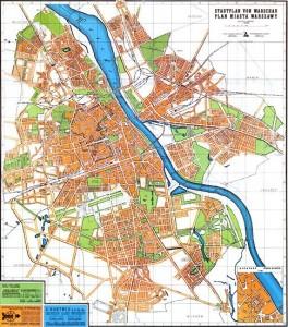 Historia Mokotowa - Służew. Plan miasta